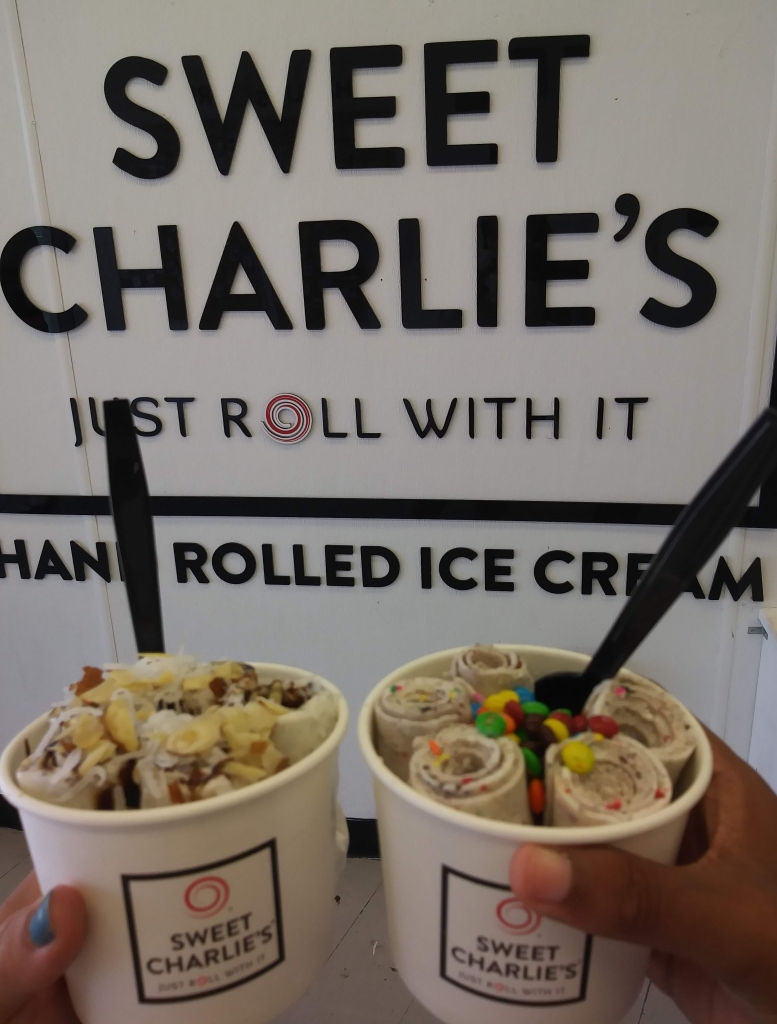sweet charllie's rolled ice cream